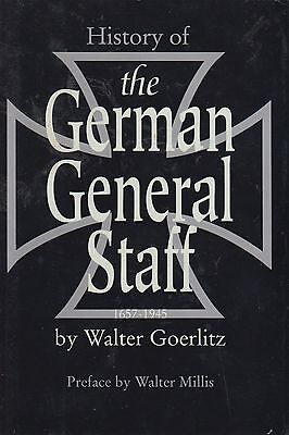 A History Of The German General Staff 1657-1945 By Walter Goerlitz HBDJ 1995