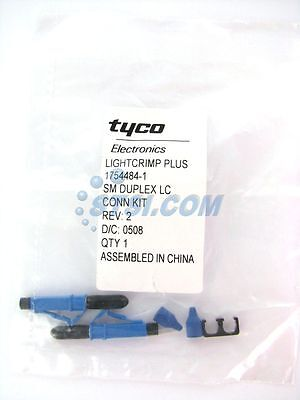 TE (Amp/Tyco) Lightcrimp Plus LC SM Duplex Fiber Optic Connector 1754484-1 ~STSI