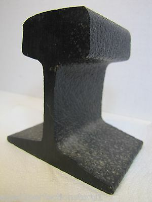 Railroad Train Track Doorstop real old used RR track cast iron pitted patina