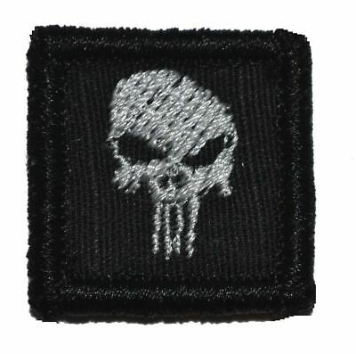 Punisher Skull 1x1 Military/Morale Hat Patch with Hook Fastener