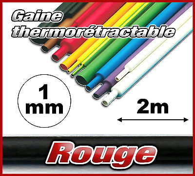 GR1-2# gaine thermorétractable rouge 1mm 2m ratio 2/1 gaine thermo rouge
