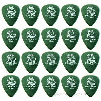 Dunlop Gator Grip 20 x 1.5mm Green Guitar Picks / Plectrums Jim Dunlop x 20