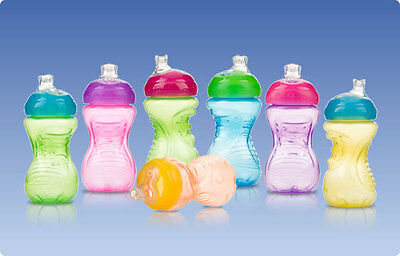 2 NEW Nuby No Spill 10 oz. Super Spout Sippy Easy Gripper Cups BPA FREE