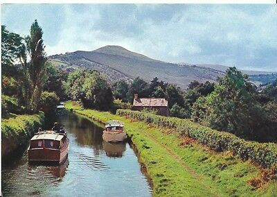Wales Postcard - Llangynidr, Breconshire - Showing Boats   2386