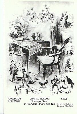 Author Postcard - Charles Dickens - 'The Empty Chair' On The Author's Death B333