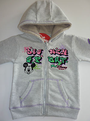 DISNEY Really Cute MICKEY MOUSE Grey Hoodie Age 2-3 Years NWT