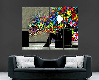 Rasta Man Poster Trippy Giant Wall  Art Picture Print Large Huge