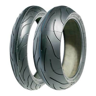Pair Of Michelin Pilot Power 2CT Motorcycle/Bike Tyres - 120/70/17 & 190/55/17