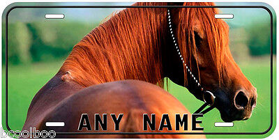 Horse Personalized Aluminum Novelty Car License Plate H04