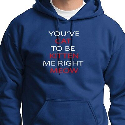 You've CAT To Be KITTEN Me Right MEOW Tee Funny Pet Humor Hoodie Sweatshirt