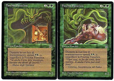 Foschia Famelica – Hungry Mist 2x carte MAGIC Homelands Origini (ITALIAN) EXC-NM