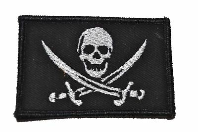 Pirate Jolly Roger 2x3 Funny Hat Military/Morale Patch with Hook Fastener