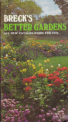 Breck's Better Gardens Catalog 1973 Flowers Vegetables