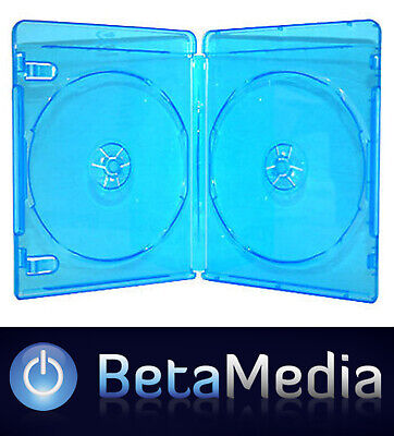 5 Blu ray Double 12mm Quality cases with logo - U.S Standard Size Bluray cover
