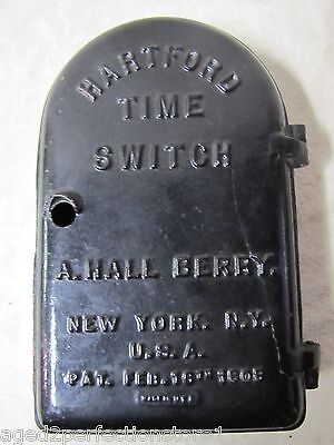 Antique 1909 Hartford Time Switch - New York City NY heavy cast iron casket case