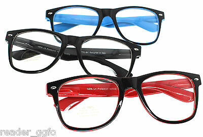 Clear Lens Fashion Glasses Nerd Geek Spectacles Wayfarer Reading Glasses Frame