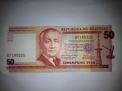 50 PISO PESO 2010 PILIPINAS PHILIPPINES BANKNOTE CURRENCY PAPER MONEY P 193