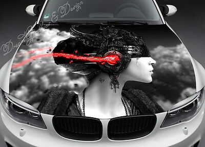 Abstract Hood Full Color Graphics Wrap Decal Vinyl Sticker Fit any Car #103