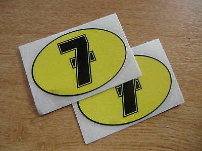 2x Barry Sheene Number 7 decals / stickers 80mm x 55 mm