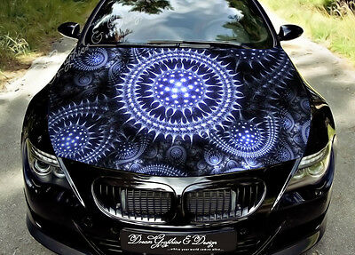 Abstract 3D Hood Full Color Graphics Wrap Decal Vinyl Sticker Fit any Car #100