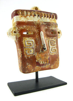 ACROSS THE PUDDLE Pre-Columbian Calima Square Mask (S) Reproduction