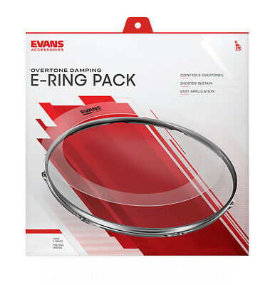 Evans E Ring Fusion Tom Set ER-FUSION Stops Unwanted Drum Overtones