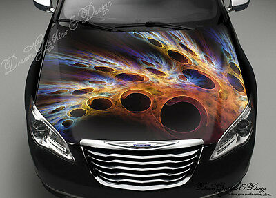Speedometer Full Color Graphics Wrap Decal Vinyl Sticker Fit any Car Hood #047