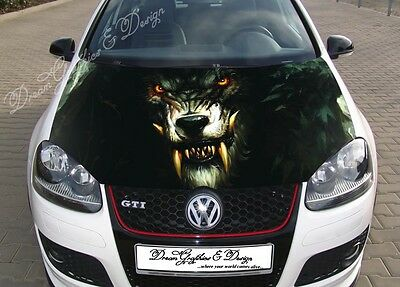 Rock Shooter Hood Full Color Graphics Wrap Decal Vinyl Sticker Fit any Car #055