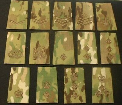 Multi Terrain Pattern Combat Rank Slides Multicam Slides MTP Rank Slides SGT