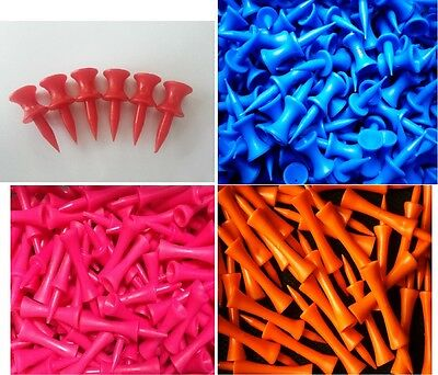 Plastic Castle/Graduated Golf Tees Various Colours and Sizes