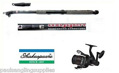 Shakespeare Fishing Beta Reel + Line & Telescopic Carbon Tele Travel Fishing Rod