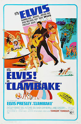"""""""CLAMBAKE"""" ... ELVIS PRESLEY..Classic Movie Poster A1A2A3A4 Sizes"""