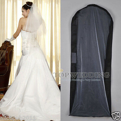 New Black Wedding Garment Bags Evening Ball Gown Suit Cover Travel Storage Cover