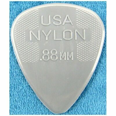 Dunlop 20 x 0.88 mm Standard Nylon 44R Guitar Picks / Plectrums - Jim Dunlop USA