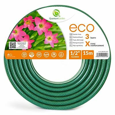 15M - Quality 3 Layer - Reinforced Garden Hose Pipe - Made In Europe - Economic
