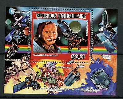 Central African Republic 1984 SG#MS1037 Space Technology MNH M/S#A59757