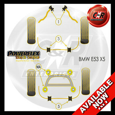 BMW E53 X5 (99-06) Powerflex Black Complete Bush Kit