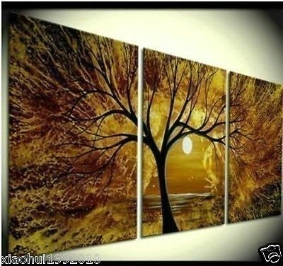 MODERN ABSTRACT WALL ART OIL PAINTING ON CANVAS(no framed)