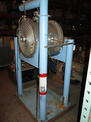"""20"""" x 20"""" Water Cooled Round SS High Vacuum Chamber w/ many ports & Stand"""