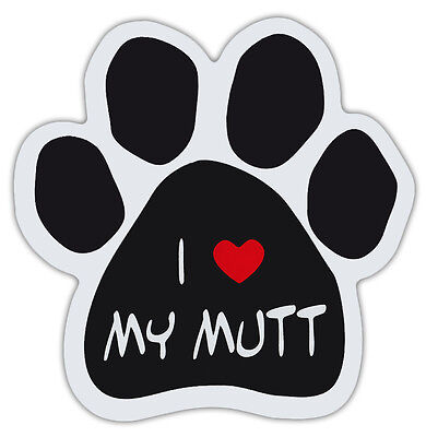 Dog Paw Shaped Magnets: I LOVE MY MUTT | Dogs, Gifts, Cars, Trucks