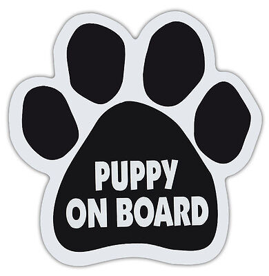 Dog Paw Shaped Magnets: PUPPY ON BOARD | Dogs, Gifts, Cars, Trucks