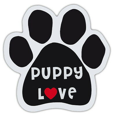 Dog Paw Shaped Magnets: PUPPY LOVE WITH HEART   Dogs, Gifts, Cars, Trucks