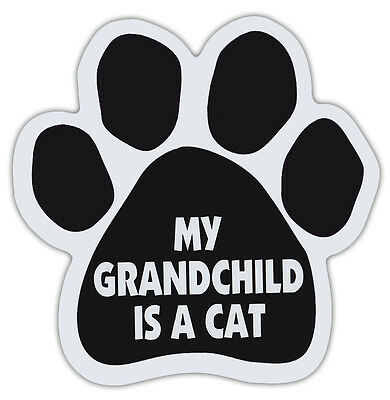 Cat Paw Shaped Magnets: MY GRANDCHILD IS A CAT   Cats, Gifts, Cars, Trucks