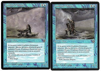 Labirinto Oscuro - Dark Maze 2x carte MAGIC Homelands (ITALIAN) EXC-NM