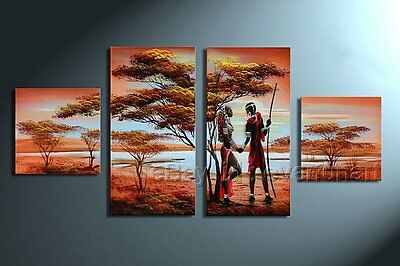 Hand-painted Wall Decor Modern African Art Landscape Tree Oil Painting On Canvas