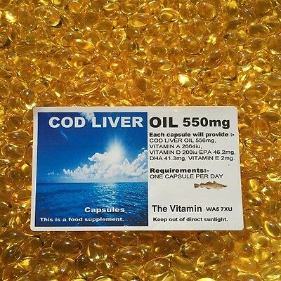 COD LIVER OIL 550mg  365 Capsules     FREE POSTAGE  (L)