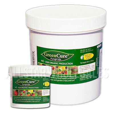 Green Cure Potassium Bicarbonate Powdery Mildew Fungicide GreenCure - 8oz, 40oz