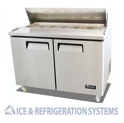 "Migali Commercial 48"" Salad & Sandwich Refrigerator Prep Table Cooler C-Sp48-12"