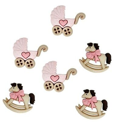 New Arrival Baby Theme Buttons Boy OR Girl Jesse James Dress It Up