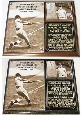 Roger Maris #9 Record Breaking 61st Home Run New York Yankees Photo Plaque